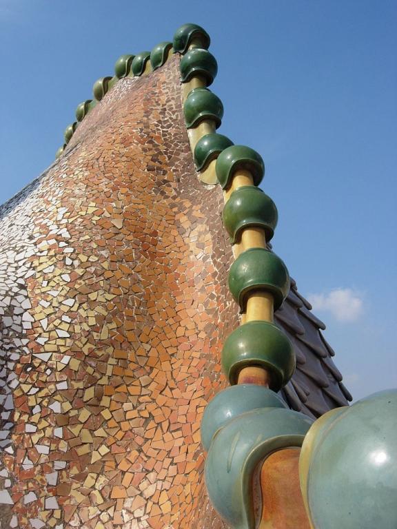 Casa Batlló Particolare della terrazza