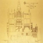 Palazzo Güell: disegno originale di Gaudì