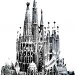 Modello della Sagrada Familia completata