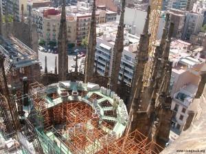 L'incendio della Sagrada Familia